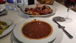 Olla podrida, uno de los platos típicos de la gastronomía de Covarrubias