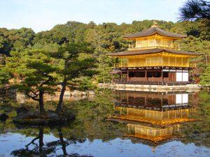 Pabellón Dorado o Kinkaku-Ji, uno de los templos más famosos de Kioto