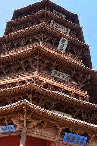 Detalles de la Pagoda de Yingxian