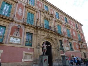 Fachada principal del Palacio Episcopal de Murcia