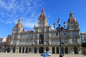 Palacio Municipal de La Coruña, el principal edificio de la Plaza de María Pita