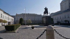 Palacio Presidencial y estatua ecuestre del príncipe Józef Poniatowski