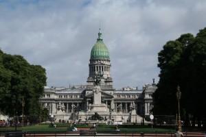 Palacio del Congreso de Buenos Aires en la Plaza del Congreso