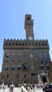 Vista diurna del Palazzo Vecchio de Florencia