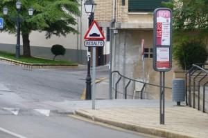 Parada de los autobuses urbanos de Soria, transporte de Soria