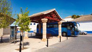 Parada de autobuses en Campo de Criptana