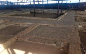 Mosaicos en el Parque Arqueológico de Carranque