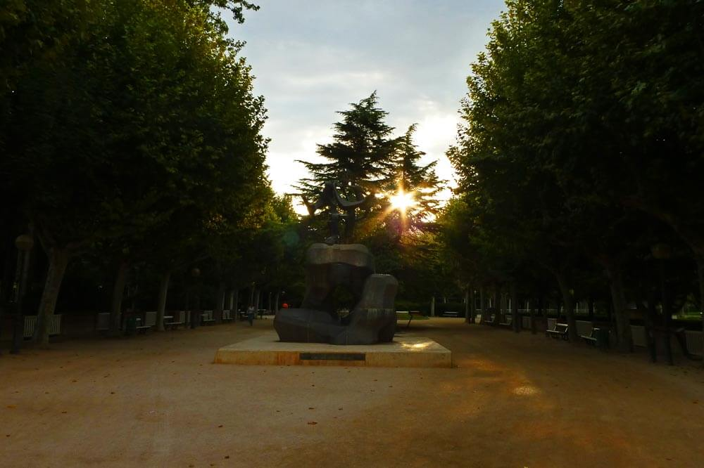 Parque Miguel Servet, una de las principales atracciones de Huesca