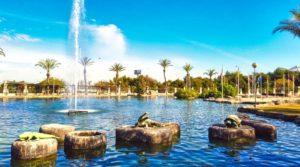 Estanque del Parque de las Naciones