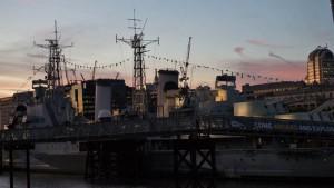 Rampa de acceso al HMS Belfast, Museo Imperial de la Guerra
