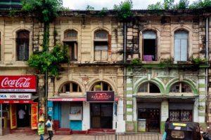 Calles del barrio de Pettah, en Colombo