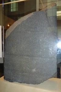 Piedra de Rosetta en el Museo Británico