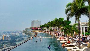 Piscina infinita de Marina Bay Sands