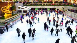 Pista de hielo en el Rockefeller Center