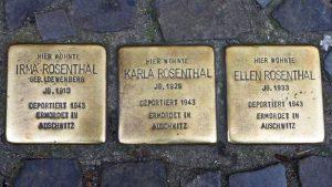 Placas doradas en las calles del Barrio Judío de Berlín