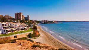 Playa Barranco Rubio, la más extensa de las playas de Orihuela