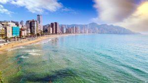 Playa de Levante, frecuentada sobre todo por turistas extranjeros