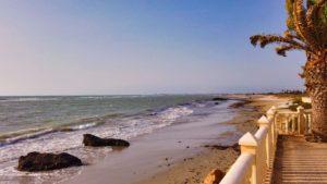 Playa El Mojón, una de las más tranquilas
