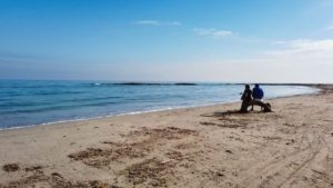 Playa Punta de Algas, una de las tres Playas de la Llana