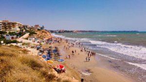 Playa Vistamar al límite con el término municipal de Orihuela