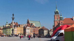Plaza del Castillo, a la derecha el Castillo Real de Varsovia