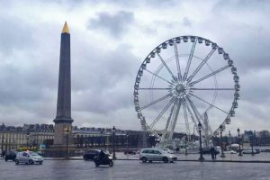 Plaza de la Concordia, una de las famosas plazas de París