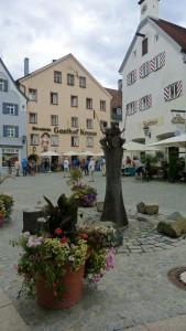 Plaza en el corazón de Füssen