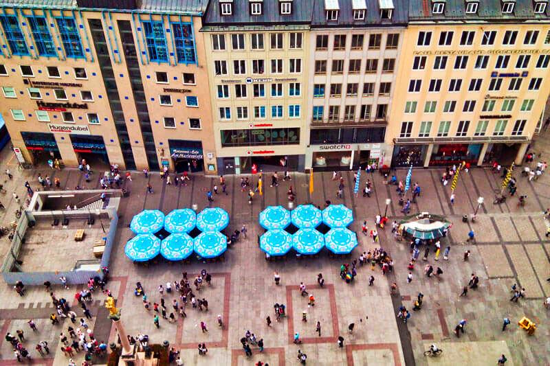 Marienplatz, la plaza más importante y visitada de Múnich.