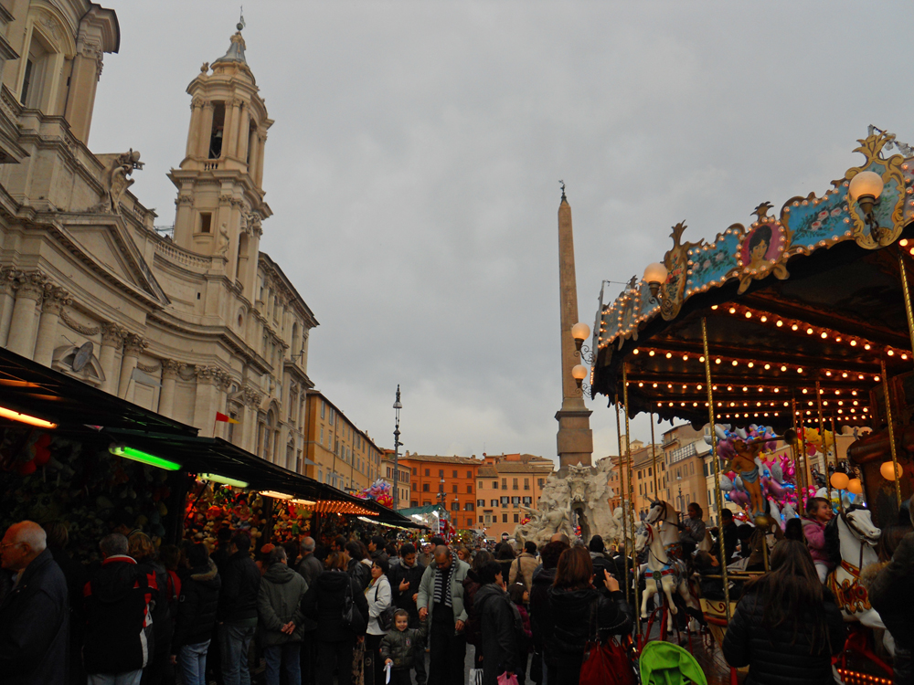 Iglesia de Sant'Agnese en la Plaza Navona de Roma