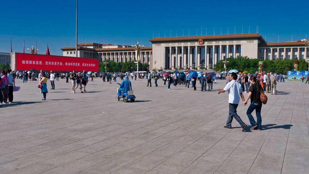 Plaza de Tiananmen, la más grande e importante de Pekín