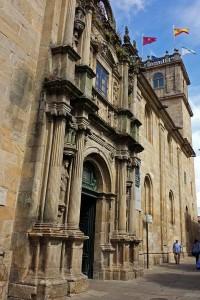 Portada del Colegio de Fonseca en Santiago de Compostela