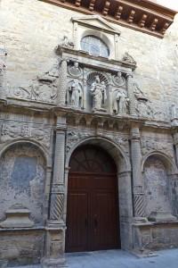Portada de la Iglesia del Carmen en Jaca