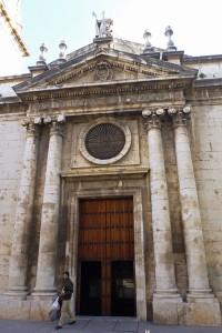 Portada de la Basílica de San Ildefonso en Jaén