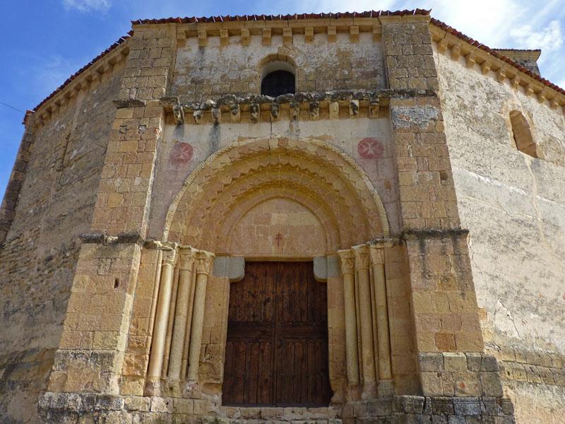Detalle de la portada de la Iglesia de la Vera Cruz de Segovia