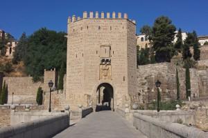 Puerta más antigua del Puente de Alcántara. puentes de Toledo