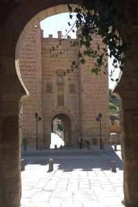 Interior Puerta de Alcántara, puertas de Toledo