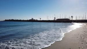 Puerto de San Pedro del Pinatar al final de la Playa Torre Derribada