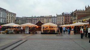 Mercado de Navidad en la Plaza del Mercado de Cracovia