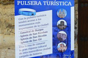 Guía informativa de la Pulsera Turística de Burgos