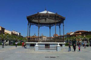 Quiosco de la Música en la Plaza de Cervantes de Alcalá de Henares