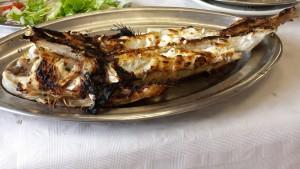 Rape del Cantábrico a la brasa, plato típico de la gastronomía de Santoña