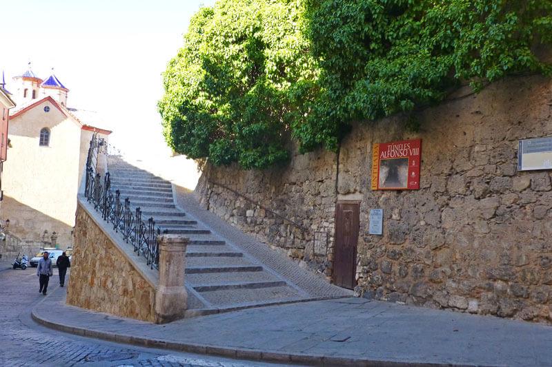 """Entrada al túnel de Alfonso VIII, proyecto """"Cuenca Subterránea"""""""