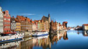 Río Motlawa a su paso por Gdansk