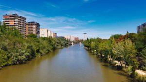 Río Pisuerga a su paso por Valladolid