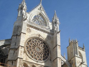 Fachada lateral de la Catedral de León