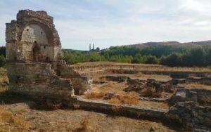Ruinas al inicio de la visita al Parque Arqueológico de Carranque