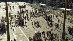 Plaza de San Marcos vista desde la terraza de la Basílica de San Marcos