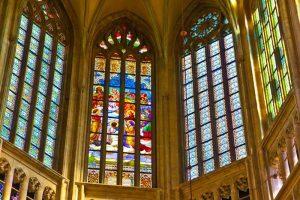 Vidrieras de la Iglesia de Santa Bárbara en Kutná Hora
