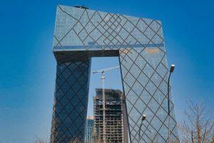 Edificio de la Sede de la Televisión Central de China o Torre CCTV en Pekín