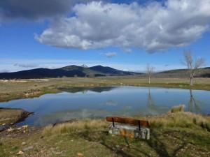 Paisaje llegando a Tamajón, ruta por los pueblos negros de guadalajara
